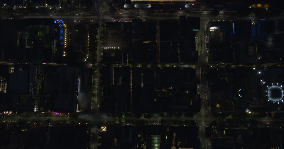 Aerial rooftop view at night illuminated lights Melbourne city with Flinders Street Station Yarra River Victoria Australia | Shutterstock HD Video #1018448236