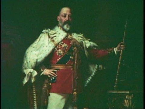 LONDON, ENGLAND, 1976, Painting of King Edward VII, English monarch