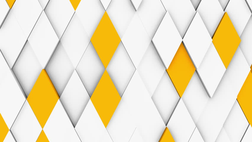 Abstract polygonal geometric surface, white minimal polygonal grid pattern with some color elements, random waving motion background canvas in pure architectural wall with white design space | Shutterstock HD Video #1018533316