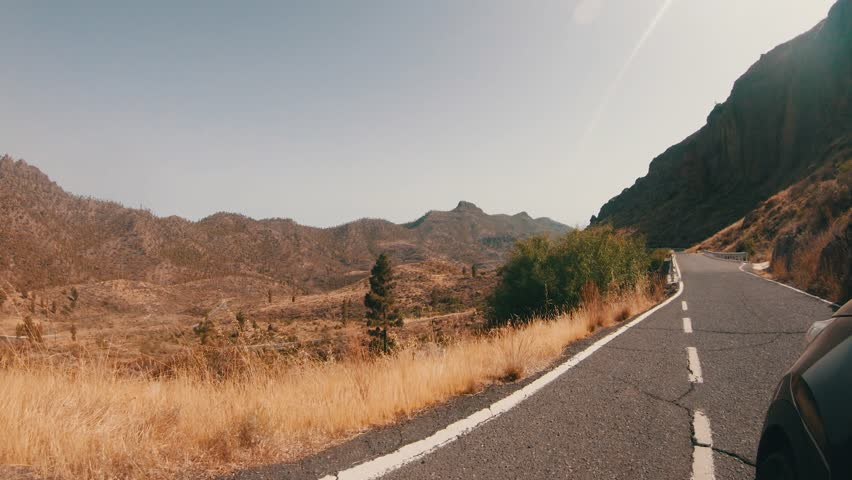 Driving at a countryside road, Spain   Shutterstock HD Video #1018596976