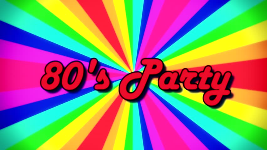 The Text 80s Party, Fancy Stock Footage Video (100% Royalty-free)  1018600216 | Shutterstock