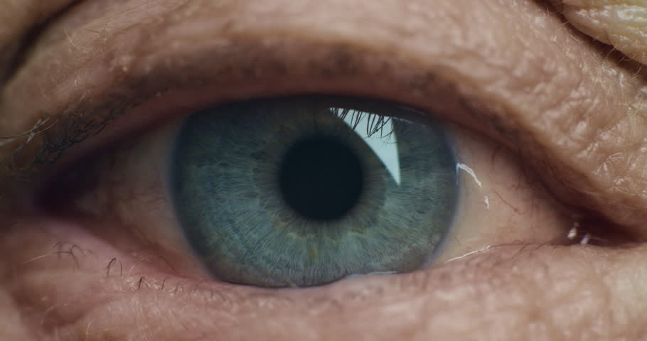 close up macro eye blinking old age eyesight health concept #1018688806