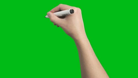 Male Hand Whiteboard Black Marker Scribble Writing Short Strokes Loop Animation