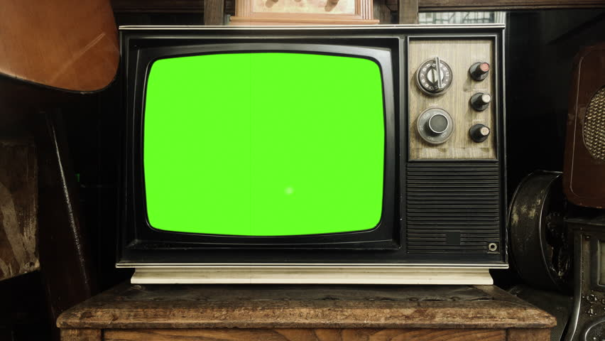 Old Tv Vintage Technology Television  Stock Footage Video