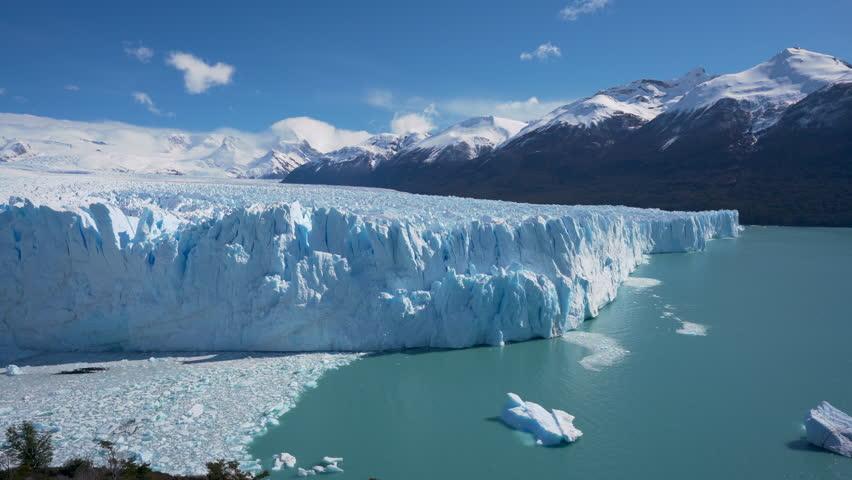 4k timelapse video of the Perito Moreno Glacier in the Los Glaciares National Park in Argentina   Shutterstock HD Video #1018976686