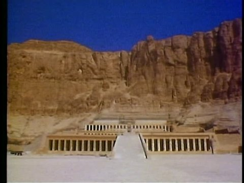 LUXOR, EGYPT, 1977, Valley of the Kings, Queen Hatshetsup temple, no people