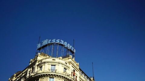 rome italy august 10 2018 view of the headquarters of the messaggero