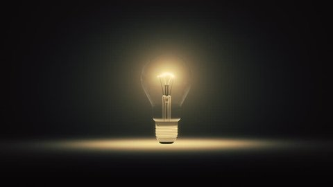 3d animation of a lightbulb flickering and exploding