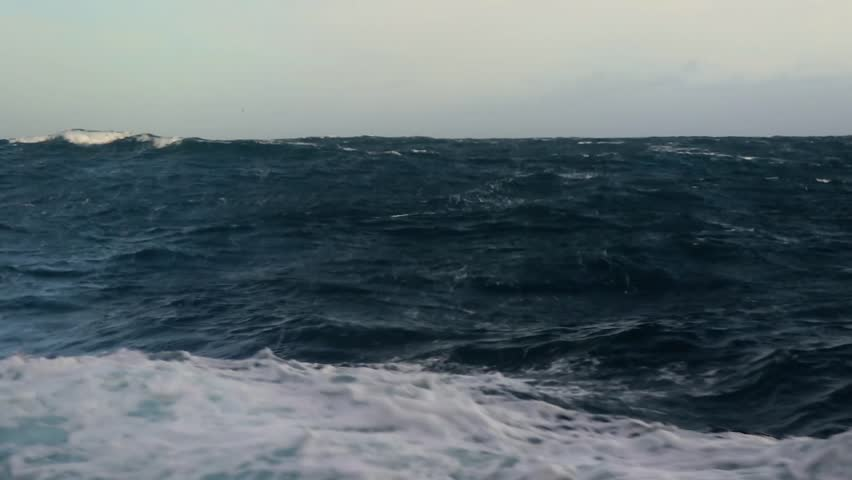 Storm in the Drake passage (storm in the ocean) (Slow motion) | Shutterstock HD Video #1019277286