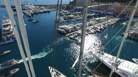 Monaco, Monte Carlo - September 27th 2018. The 2018 Monaco Yacht Show continues to be the largest luxury yacht show in the world, attracting thousands of visitors worldwide.
