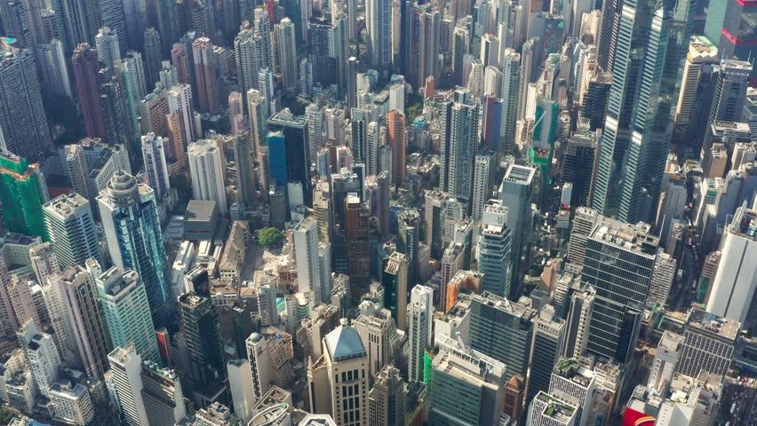 Central, Hong Kong- 10 November 2018: Drone fly over Hong Kong city   Shutterstock HD Video #1019470396