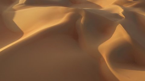 Flying low over beautiful sand dunes in empty quarter. Abu Dhabi, UAE.