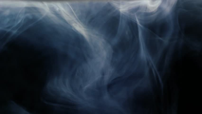 Isolated smoke effect on deep blue background. White fog footage, smoky, cloud, smog, gas. | Shutterstock HD Video #1019648446