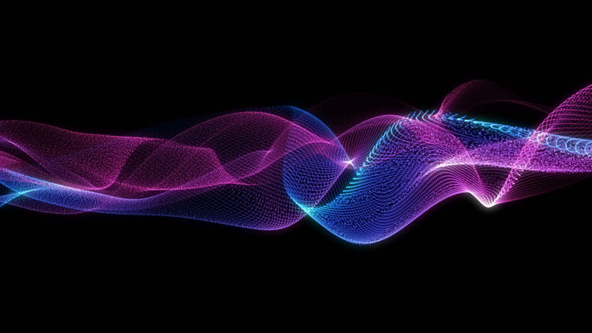 4K 60 fps. Abstract loopable blue and violet wavy motion background. Concept of futuristic animation.