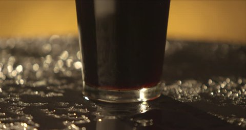 Dark beer in a glass.