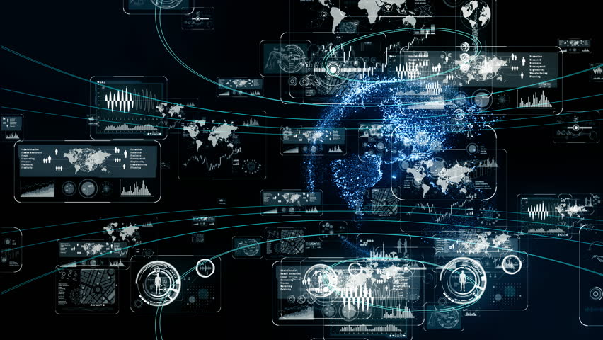 Futuristic interface concept. | Shutterstock HD Video #1020073336