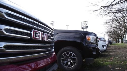 VANCOUVER, BC, CANADA - NOV 29, 2018: A General Motors dealership in the days following the announcement of GM plant closures across North America.