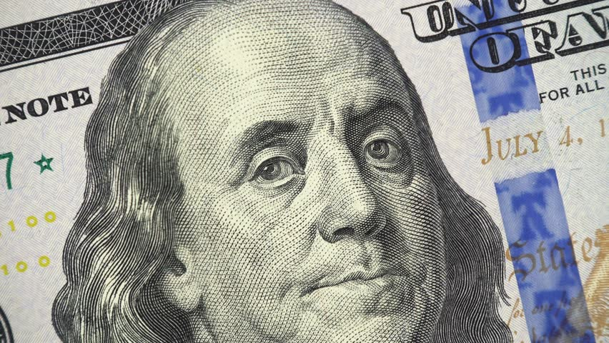 Benjamin Franklin On Us 100 Stock Footage Video (100% Royalty-free)  1020352126 | Shutterstock