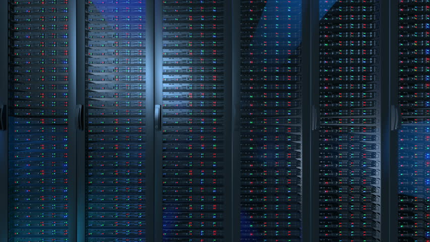 Servers close up. Modern data center. | Shutterstock HD Video #1020451966