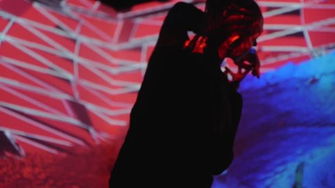 Art digital performance, dance experimental. A new kind of art, generative graphics. Interactive video installation. High technologies.