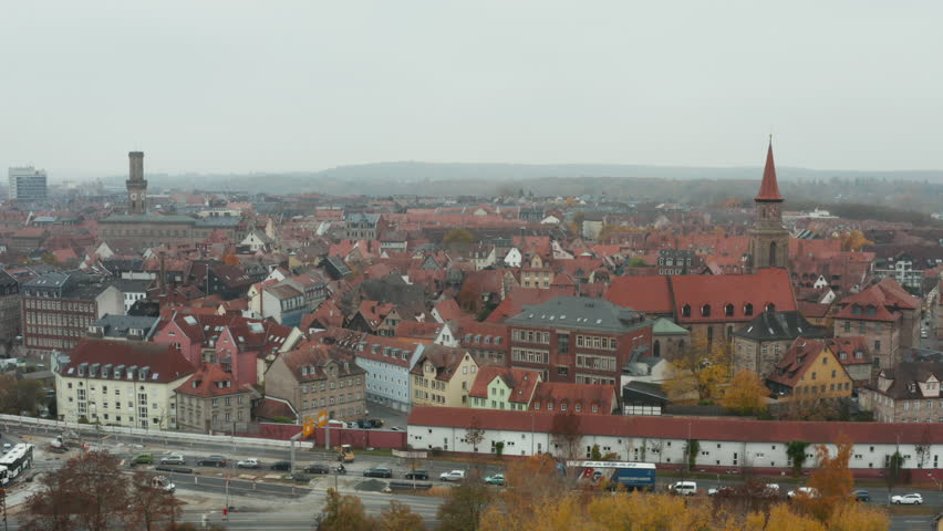 Drone view over Fürth | Shutterstock HD Video #1020534946