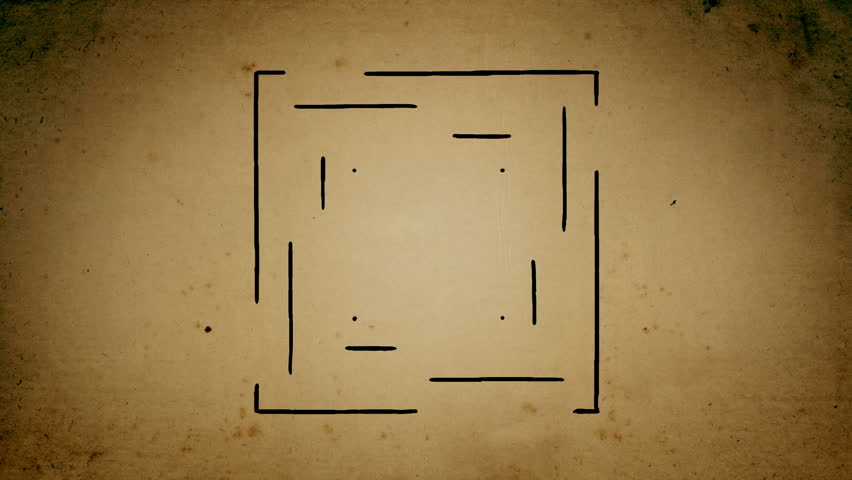 Mystical square lines drawing animation | Shutterstock HD Video #1020667126