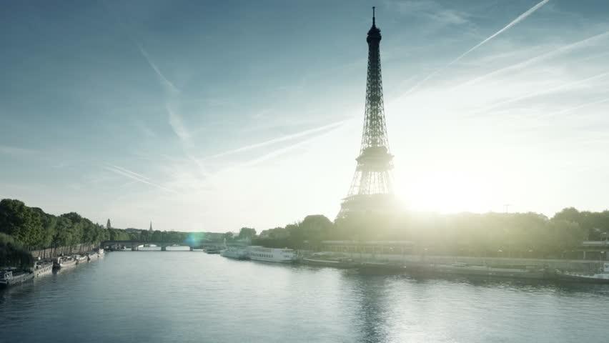 Hyper lapse Eiffel tower, Paris. France | Shutterstock HD Video #1020710986