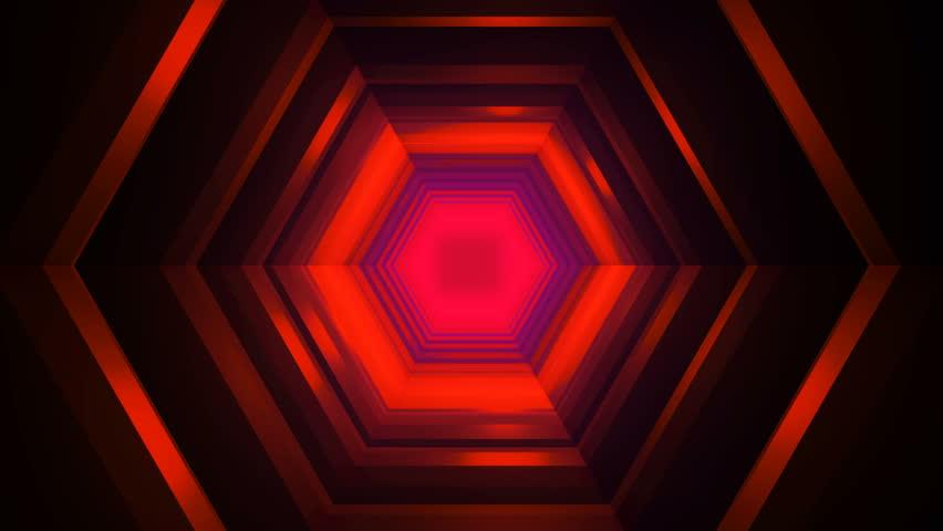 Beautiful Hexagon Tunnel Travel Animation - Futuristic Lights Loop | Shutterstock HD Video #1020787516