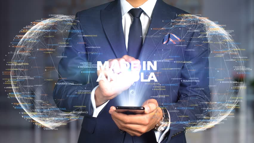 Businessman Hologram Concept Made In - Made In Angola   Shutterstock HD Video #1020899176