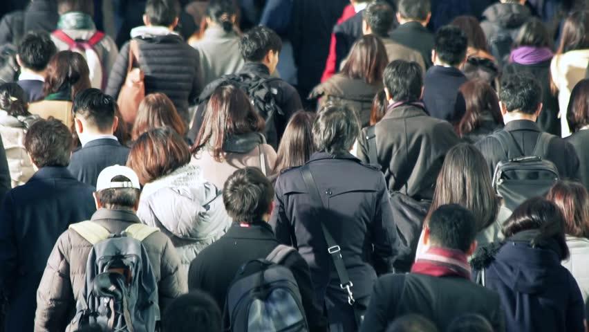 Business people Tokyo Japan walking moring | Shutterstock HD Video #1020975676