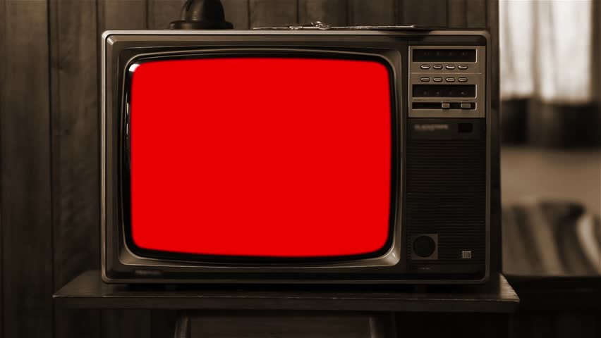 "Old Tv with Multiple Color Screens. Sepia Tone. Ready to Replace Each Color Screens with any Footage or Picture you Want. You can do it with ""Keying"" (Chroma Key) effect. Zapping Concept. 