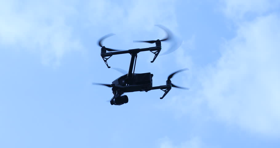 Aerial drone with an action camera | Shutterstock HD Video #1021050436