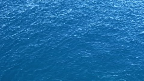 Ripples on the blue surface of the sea
