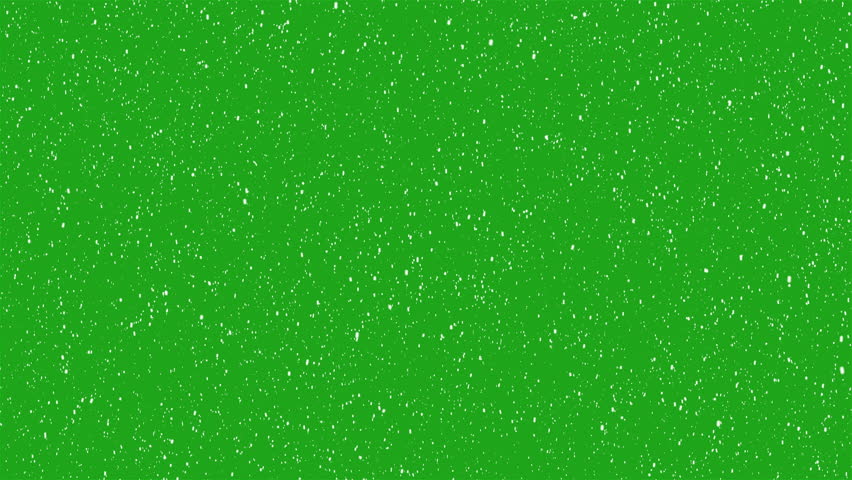 Snowing Animation on green screen #1021219216