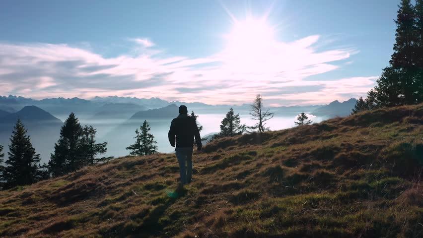 Resultado de imagem para walking on a mountain
