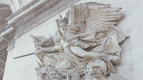 The Marseillais Volunteers Departing, Sculpted on the Arc de Triomphe. Close-Up.