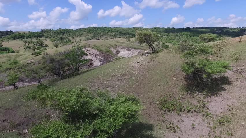 Termanu Hill in Rote, East Nusa Tenggara, Indonesia | Shutterstock HD Video #1021241656