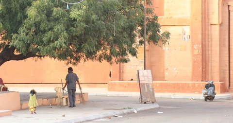 Road Clean with mop 20th Dec 2018 Hyderabad India