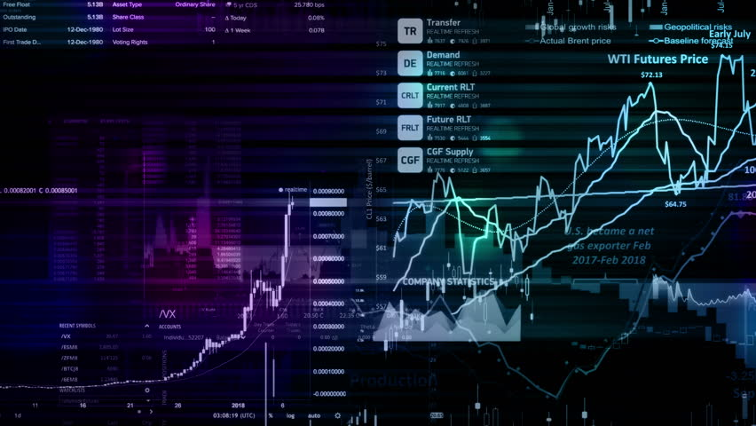 Stock market indices are moving in the virtual space. Economic growth, recession | Shutterstock HD Video #1021489606