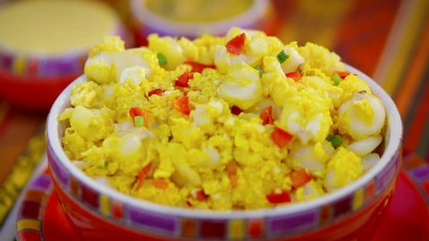 White Corn whit scrambled egg (motepillo)