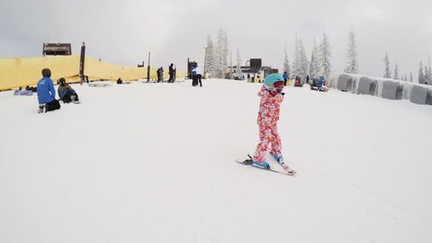 Steamboat Springs, Colorado, USA-360 VR-December 8, 2018 - Learning ski hill for alpine skiing.
