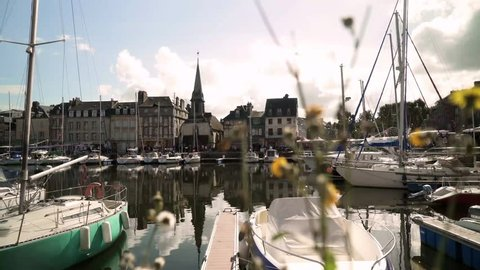 The port / harbour of Honfleur during a beautiful midsummer day