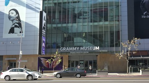 LOS ANGELES, CA/USA - JANUARY 7, 2019: The Grammy Museum in Los Angeles
