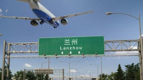 Airplane Landing Lanzhou