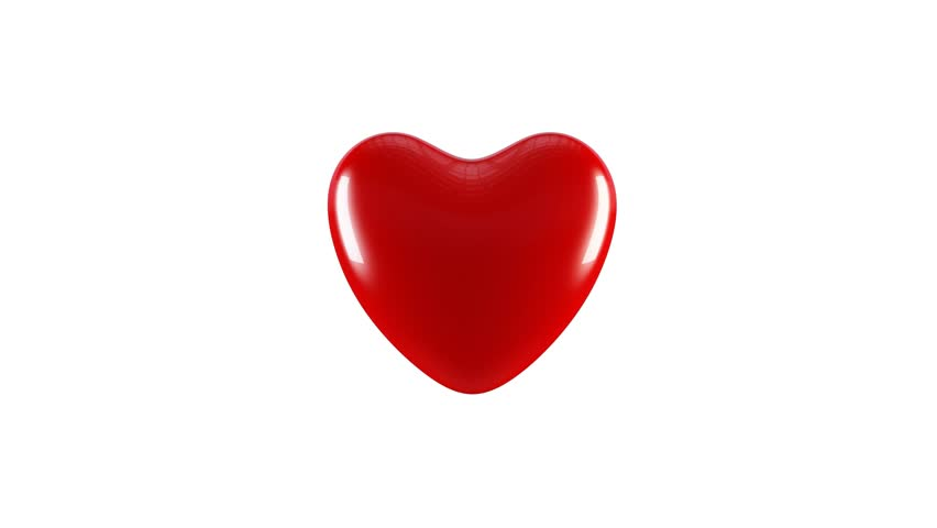 3D animation of a big red heart beating, pulsating or pounding / Valentine's Day concept