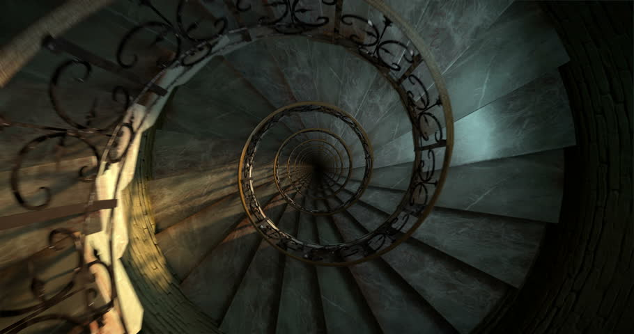 Round spiral staircase, looping animation | Shutterstock HD Video #1022469106