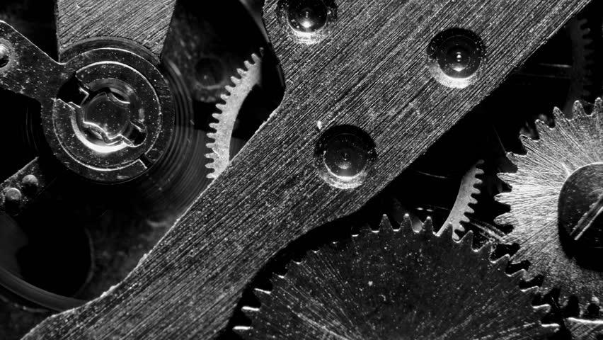 Watch mechanism macro loop.Old vintage clock mechanism working | Shutterstock HD Video #1022555236