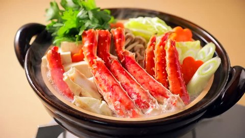 Hot pot of red king crab