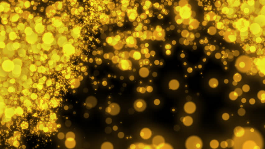 Abstract particle motion,yellow background | Shutterstock HD Video #1022753266