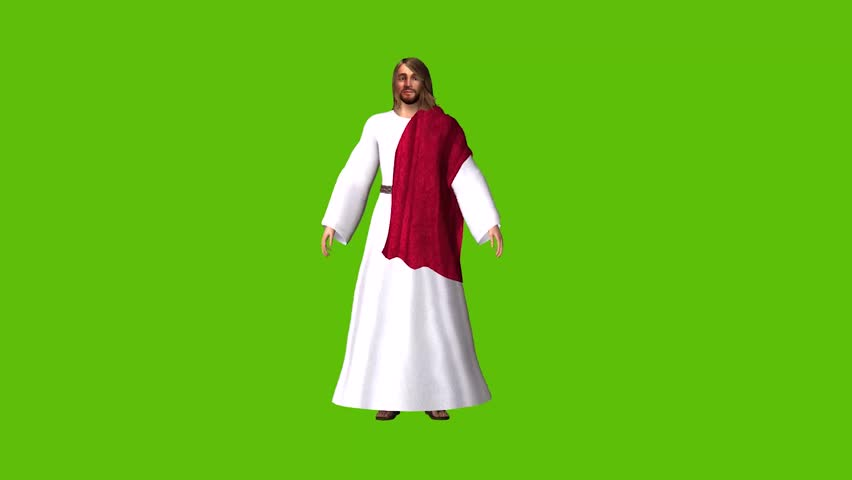 Easter animations of Jesus , two separate designs set against a green screen background, suitable for the creation of an Easter message  | Shutterstock HD Video #1022813416